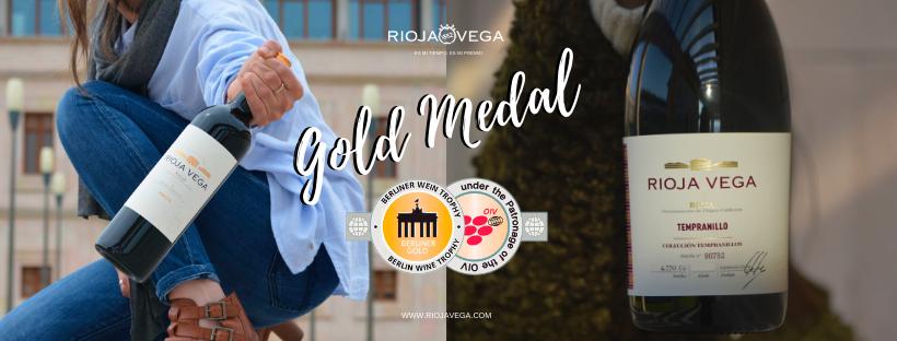 Rioja Vega Reserva 2014 y Rioja Vega Colección Tempranillo Tinto 2018 reciben sendas Medallas de Oro del concurso internacional Berliner Wein Trophy.